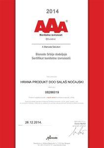 sertifikat-aaa-srp Hrana Produkt -jpg