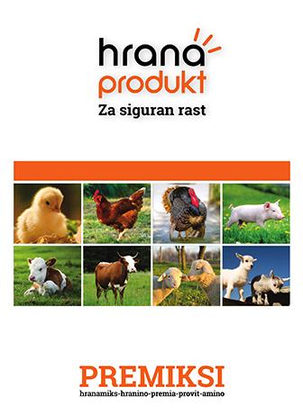 Hrana produkt premiksi stočna hrana pilići kokoške ćurke prasad telad krave jagnjad ovce