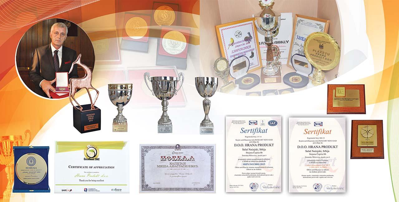 Hrana produkt povelje sertifikat plakete priznanja