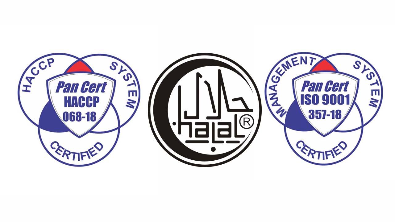 Hrana produkt HACCP Certified ISO 9001 CertifiedHalal